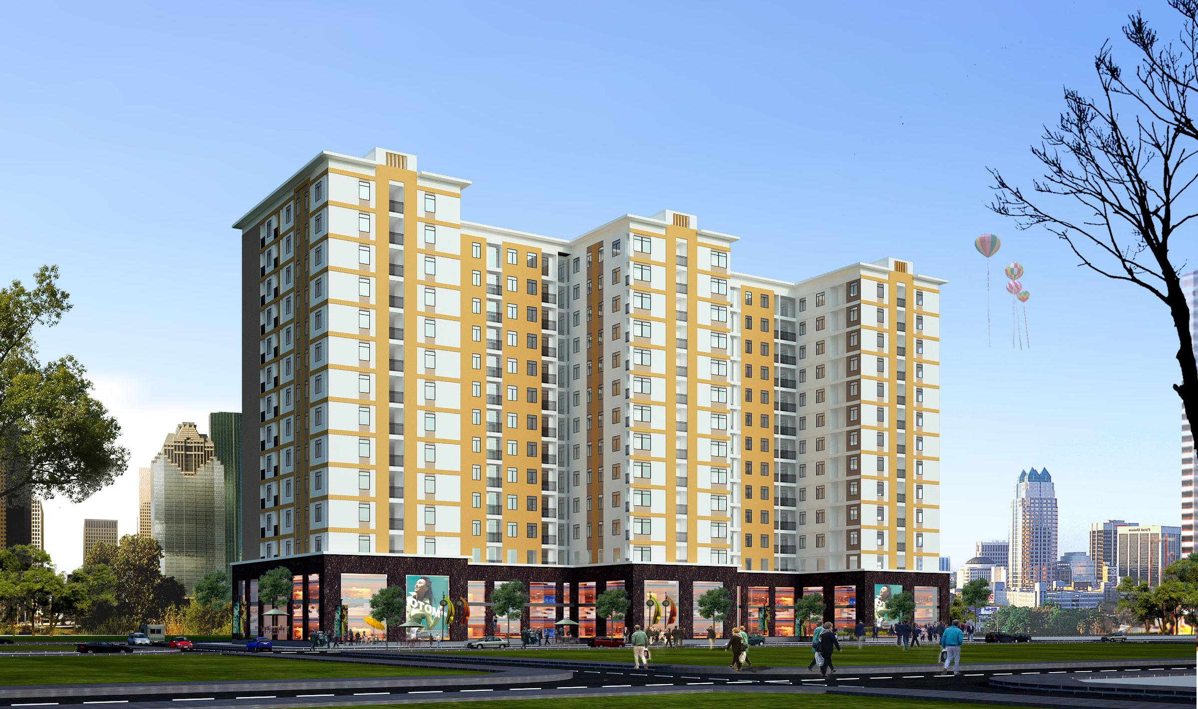 Nhà ở XH kết hợp DVTM tại xã Yên Trung, huyện Yên Phong